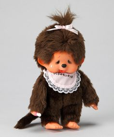 Take a look at this Pink Bib Japanese Version Monchhichi Plush Toy by Monchhichi on #zulily today!