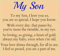 Image result for i love my son poems