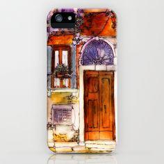 My watercolor art Tuscan Door iPhone & iPod Case