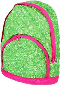 Quilted Backpack  Spring Green Paisley by ddenson on Etsy, $28.99