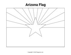 Arizona Flag Coloring Page Lovely Free Arizona Flag Coloring Page Arizona Flag, Page Arizona, Arizona State, Flag Coloring Pages, Coloring Sheets, Schools First, Flag Colors, Home Learning, Free Printables