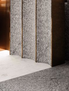 Home Decoration For Anniversary Detail Architecture, Interior Architecture, Best Interior Design, Interior Design Inspiration, Terrazzo, Joinery Details, Lobby Design, Wall Finishes, Wall Cladding