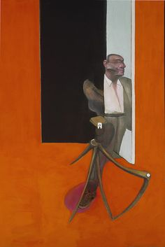Francis Bacon (British, 1909-1992), Study for a Portrait March 1991, 1991. Oil and pastel on canvas, 198 x 147.50 cm. Scottish Gallery of Modern Art, Edinburgh