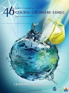 [Edhec 2014] L'affiche officielle de la Course Croisière de l'Edhec 2014 © CCE 2014, DR.