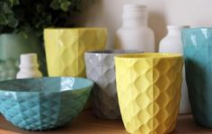 Ceramic beakers by The Mod Collective.