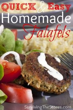 This is a super easy Falafels Recipe that you can make in minutes!  This is one of the recipes that I have memorized so I can make it when I have not planned anything for dinner that day.