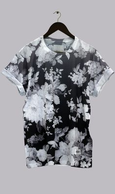 Summer floral.this t-shirt will work nice with jeans and shorts.sporty t-shirt