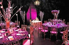 Stunning Phantom of the Opera themed wedding reception catered by The Red Blazer Restaurant; location on stage at The Capitol Center for the Arts, Concord, NH