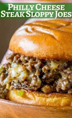 You can make these Philly Cheese Steak Sloppy Joes in just 30 minutes!