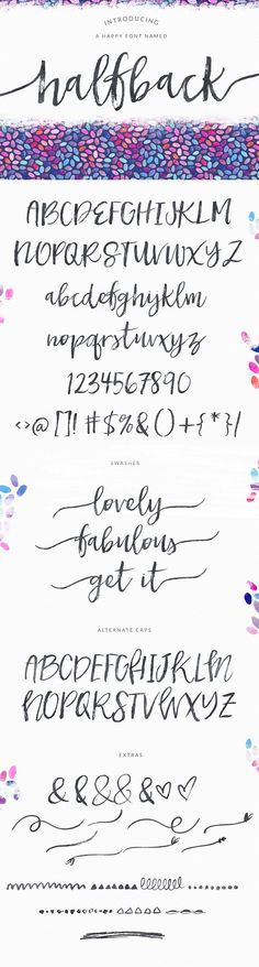 Dry Brushed Calligraphy Font Design, Halfback by Angie Makes | angiemakes.com $15