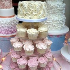 cupcake wedding cake<<< THIS IS WHAT I WANT BUT A LITTLE BIGGER  @Marianne Glass Celino Winters