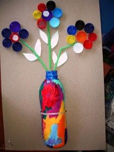 kapaklardan harika çiçekler
