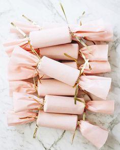 Handmade Pink Christmas Crackers