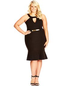 City Chic Plus Size Sleeveless Bodycon Dress