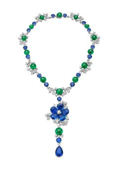 Bulgari posted a few of their high jewelry pieces from the collection exhibited at the 26th Biennale des Antiquaires in Paris to their Facebook page