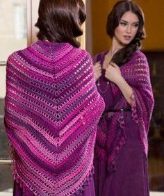 UNFORGETTABLE TOP DOWN SHAWL — From: http://www.allfreecrochet.com/Shawls/Unforgettable-Top-Down-Shawl-from-Red-Heart/ml/1/?utm_source =ppl-newsletter&utm_medium=email&utm_campaign= hookedoncrochet20141013