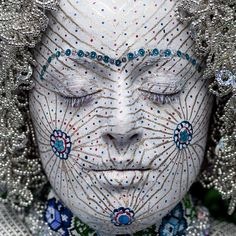 Donje Ljubinje brides have this or something similar painted on their face on her wedding day.  This is apparently an ancient tradition.