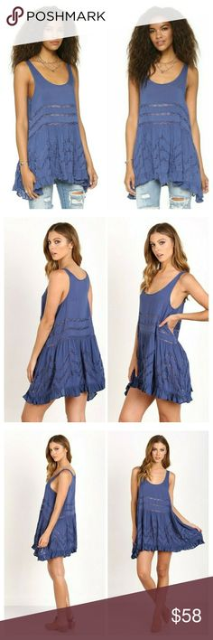 Selling this NWT FREE PEOPLE Voile and Lace Trapeze Slip Dress on Poshmark! My username is: olddognewtricks. #shopmycloset #poshmark #fashion #shopping #style #forsale #Free People #Dresses & Skirts