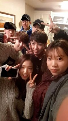 nice Park Shin Hye selca from last day filming pinocchio