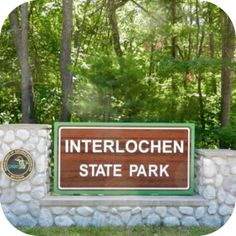 Interlochen State Park is actually the thin strip between Duck Lake and Green Lake and features almost a mile of lakeshore that is adorned with towering pines. Interlochen Michigan, Michigan State Parks, Green Lake, Traverse City, Summer 2015, Stuff To Do, Trips, Wanderlust, Lily