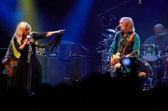 Stevie  ~ ☆♥❤♥☆ ~     and Tom Petty onstage, performing 'Stop Draggin' My Heart Around'