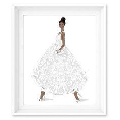Limited Edition Print - Enchanted - Dancing in Dior - Megan Hess