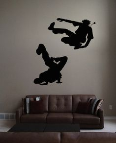 Wall Vinyl Sticker Decals Mural Room Design Pattern Art Decor Dance Hip Hop Style Music Art bo2248 by RoomDecalsAndDesigns on Etsy