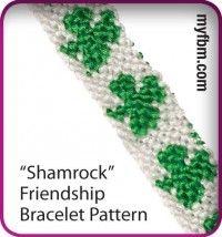 Friendship Bracelet Pattern Shamrock Design