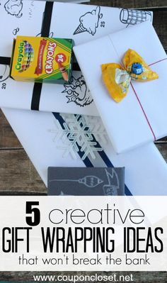 Check out these fun and creative gift wrapping ideas. Whether you are wrapping gifts for the holidays, for teachers, or for birthdays, it doesn't have to be expensive or hard to look amazing!