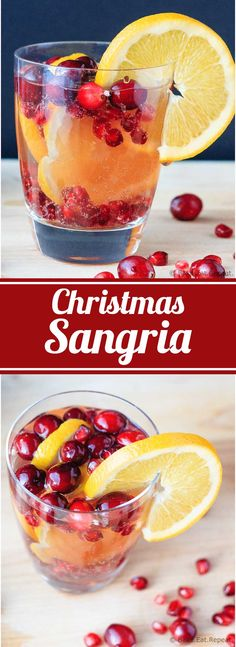 Christmas Sangria - Easy to make cranberry orange and pomegranate sangria - the perfect special drink for your holiday plans! Christmas Sangria - Easy to make cranberry orange and pomegranate sangria - the perfect special drink for your holiday plans! Holiday Sangria, Holiday Cocktails, Christmas Drinks Alcohol, Summer Cocktails, Winter Sangria, Vodka Cocktails, Holiday White Sangria Recipe, Sangria Recipe Easy, Holiday Alcoholic Drinks