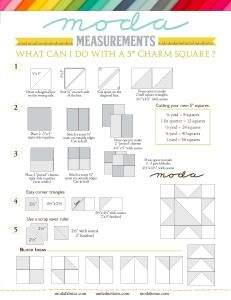 Weights and Measures « Moda Bake Shop Charm Square