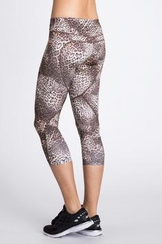 Lena Compression 7/8 Legging because leopard is the best print you can get spandex in. @BandierNYC