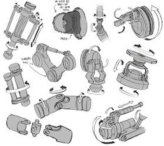 Im just trying to build my visual library and better understand how mechanical joints and pivots work. Robots Drawing, Robot Parts, Hard Surface Modeling, Spaceship Interior, Robots Characters, Arte Robot, Construction Drawings, Industrial Design Sketch, Robot Concept Art