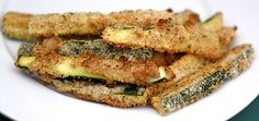 Baked Zucchini Fries - adapted from another site (the girl who ate everything) I really liked them, going to have to try these and compare side by side