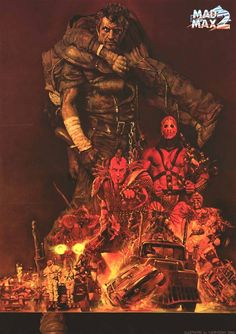 Mad Max 2 - The Road Warrior by Noriyoshi Ohrai. Mad Max Fury Road, Arte Sci Fi, Sci Fi Art, Norman Rockwell, Albert Dubout, Mad Max 2, Art Science Fiction, Norman Lindsay, Illustration Inspiration