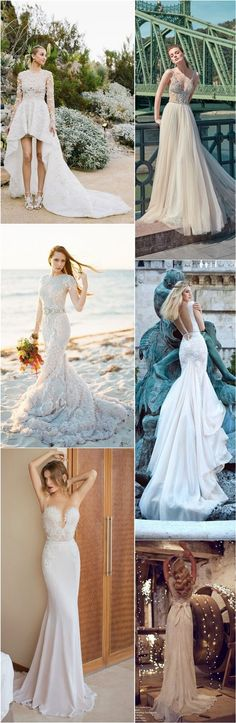 Beach Wedding Dresses and Bridal Gowns / http://www.deerpearlflowers.com/beach-wedding-dresses-with-gorgeous-details/