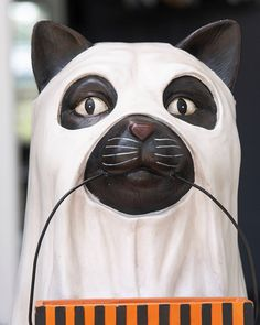 Give good luck and sweet treats to your Halloween guests with this feline friend from Bethany Lowe. Pair with the Life-Sized Dog Candy Bowl for a ghostly great time. Whimsical Halloween, Halloween Decorations, Halloween Season, Spirit Halloween, Balsam Hill, Bethany Lowe, Artificial Tree, Candy Bowl, Tree Shapes