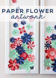With a stack of colorful cardstock (and a scissors or e-cutter!) you can make inexpensive, easy, and eye-popping flower artwork for anywhere in your home! | www.thirtyhandmadedays.com