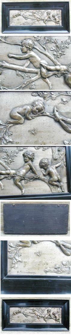 Helmuth Schievelkamp (Berlin 1849-) Relief versilbert um 1895,signiert