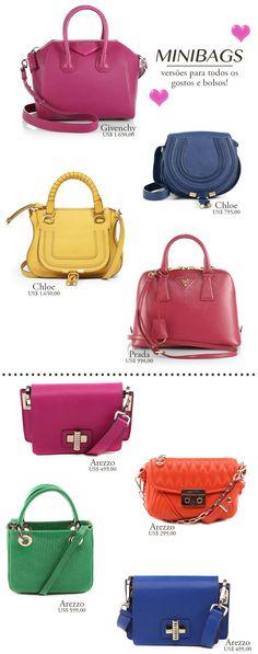 Minibags coloridas: as bolsas da vez!