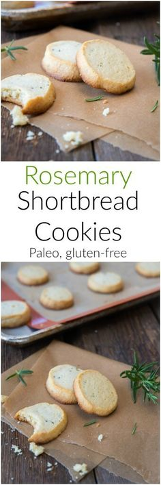 Paleo Rosemary Shortbread Cookies - a gluten-free dessert recipe that is perfect for picnics and any time you want a bit of savory sweetness