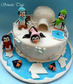 Pinguins and cake! best of both worlds