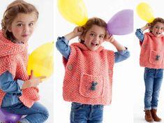 Crochet Bebe, Crochet Poncho, Baby Outfits, Rockband Logos, Tutu Rock, Blazer, Baby Dress, Mantel, Knitting Patterns