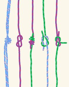 Fine Art Print. Rock Climbing Ropes. With Knots. March 6, 2012.. $80,00, via Etsy // i could make that.