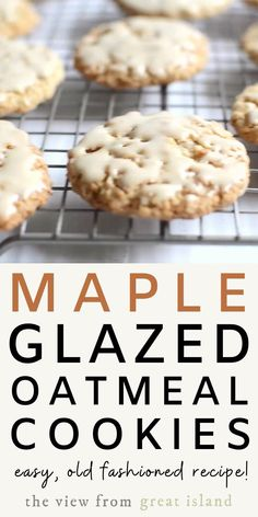 Maple Glazed Oatmeal Cookies are chewy oatmeal cookie dipped in a rich maple glaze that are deceptively simple and divinely delicious.  #recipe #homemade #easy #cookies #dessert #oatmeal #holiday #christmascookie #cookieswap #chewy #simple #frosted #maple #soft #best #quickoats #oldfashioned Oatmeal Cookie Recipes, Oatmeal Cookies, Maple Cookies, Sugar Cookies, Maple Glaze, Incredible Recipes, Meals In A Jar, Food Stamps, Clean Eating Snacks