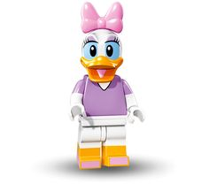 LEGO Disney Daisy Duck Minifig Collectible Minifigures 71012 Series Figure for sale online Lego Minifigure, Disney Minifigures, Daisy Duck, Lego Disney, Disney Pins, Disney Mickey, Mickey Mouse, Minifigura Lego, Lego Star