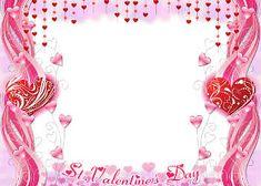 Napis na ramce: Życzenia z okazji Walentynek!