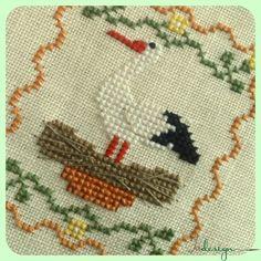 Az én kis gólya keresztszemes minta