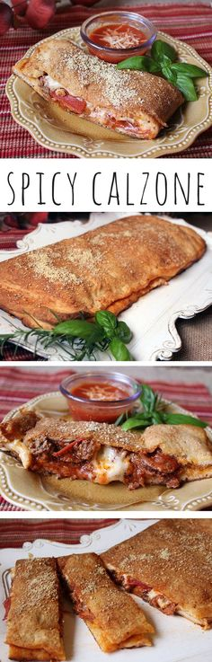 No need for takeout when you can make delicious calzones for the family at home. This recipe makes two large log type calzones. What makes this calzone a little different, is adding the spicy smoked kielbasa. It's a great addition combined with all the other flavors. These cheesy, gooey, easy, and delicious calzones will get two thumbs up from your entire crew.