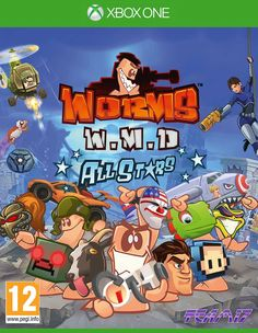 Worms WMD All Stars Xbox One. Day 1 Edition with bonus DLC and EXCLUSIVE Xbox One Content: Joanna Dark Weapon (Perfect Dark) plus 5 Masks from Blast Corps, Jet Force Gemini, Jetpac, Killer Instinct and Battletoads. Lenticular (holographic) sleeve.